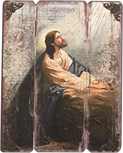 "Joseph's Studio by Roman - Praying in Gethsemane Decorative Panel, 15"" H, Courageous Panels, Medium Density Fiberboard, Home Decor, Religious, Giftware, Decorative, Beautiful Detail"
