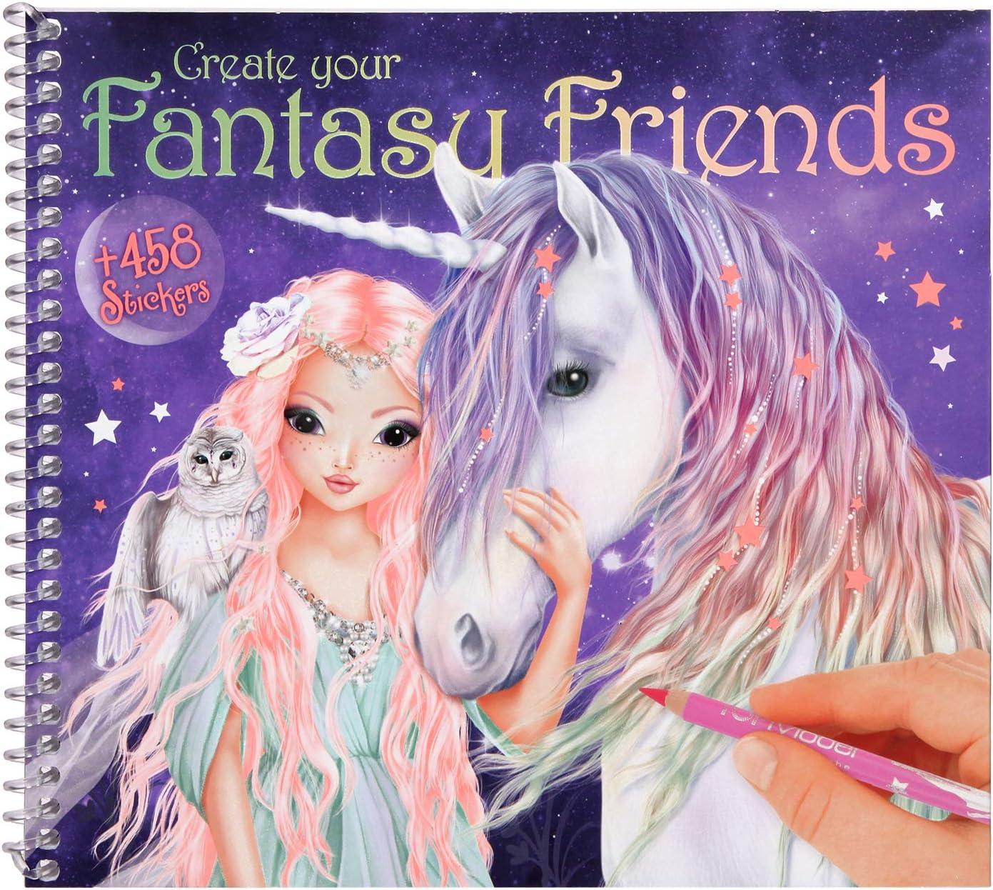Top Model Malbuch Stickerbuch Create your Fantasy Model von Depesche