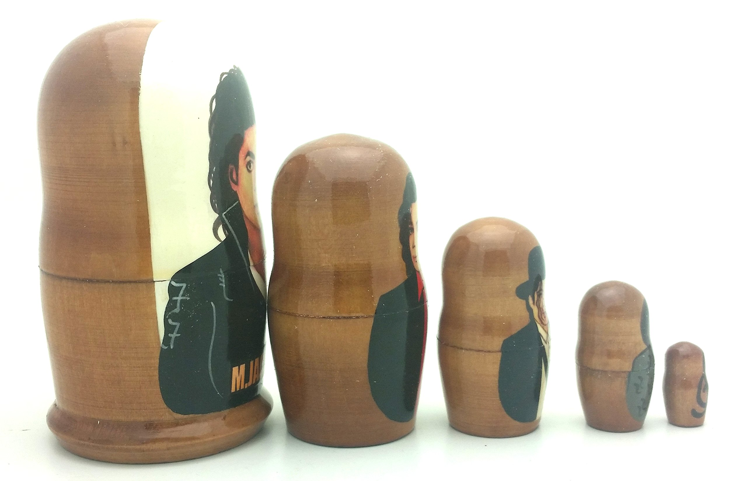 Michael Jackson BAD Russian Nesting dolls 5 piece DOLL Set 4'' Tall by BuyRussianGifts (Image #3)