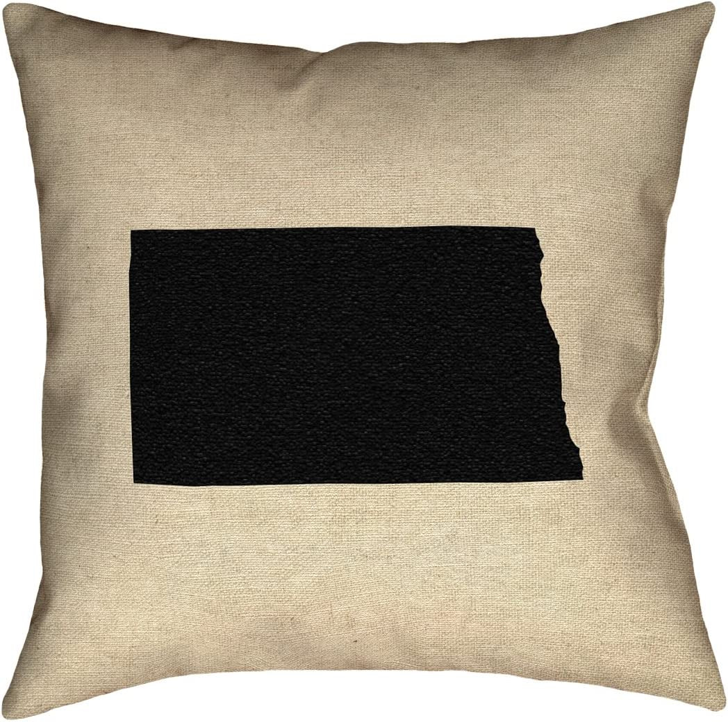 ArtVerse Katelyn Smith 14 x 14 Spun Polyester Double Sided Print with Concealed Zipper /& Insert Iowa Pillow