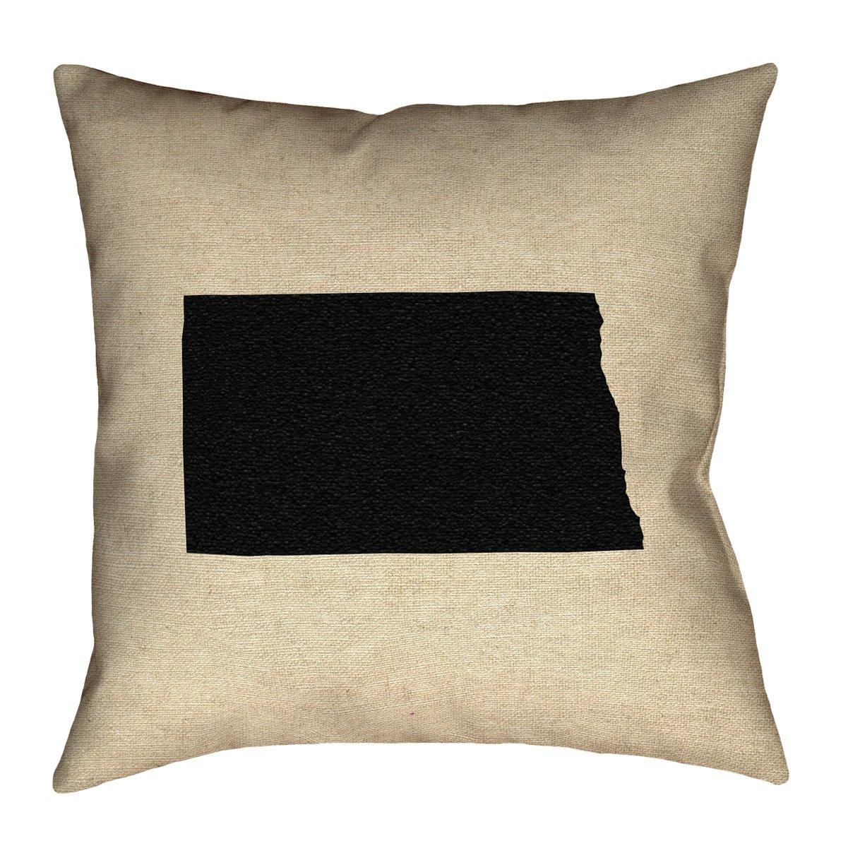 ArtVerse Katelyn Smith 16 x 16 Spun Polyester Double Sided Print with Concealed Zipper /& Insert North Dakota Pillow