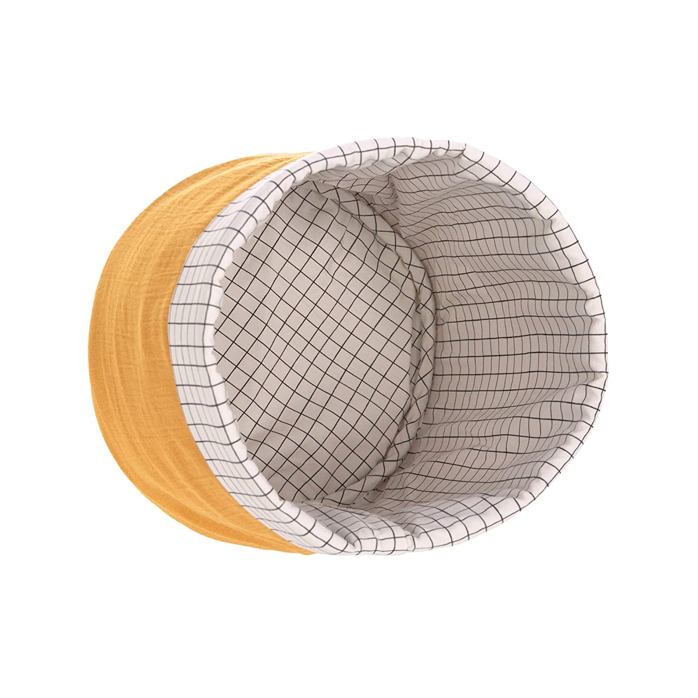 L/ÄSSIG Aufbewahrungskorb-Set 3 Stk aus Muslin Bio-Baumwolle//Storage Basket Set 3 pcs Muslin anthracite
