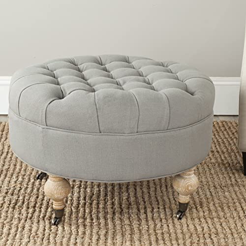Safavieh Home Collection Clara Granite Round Tufted Ottoman