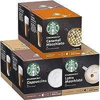 STARBUCKS by NESCAFÉ DOLCE GUSTO Kapseln Probierset, 36 Getränke aus 72 Kapseln Milchkaffee-Variationen (6 x 12)