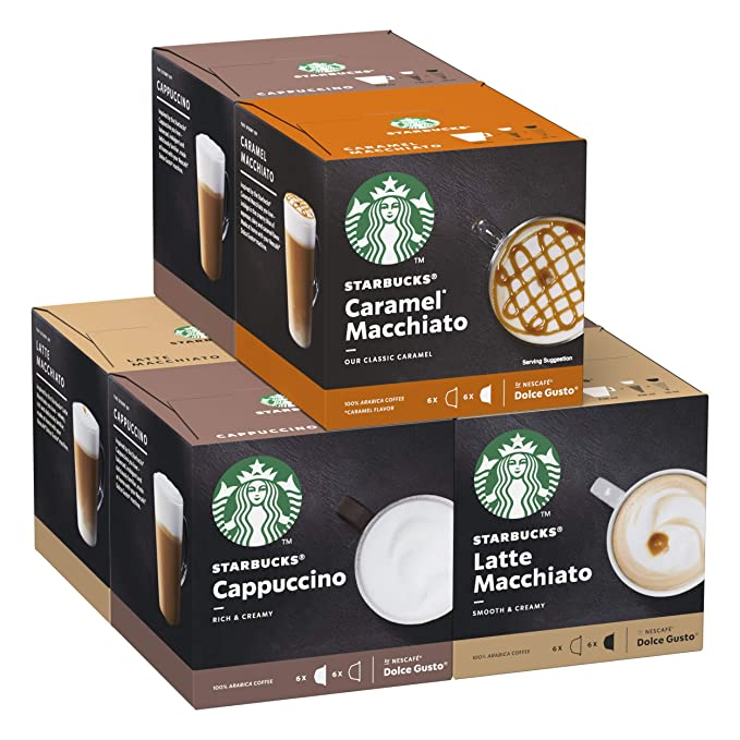 STARBUCKS By Nescafe Dolce Gusto Variety Pack White Cup Coffee ...