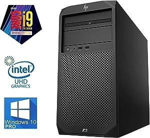HP Z2 G4 Workstation Tower - (9th Gen) Intel Core i9-9900K Upto 5GHz - 64GB DDR4 RAM – 2TB SSD + 2TB SSD - Quadro P2000 5K 4-Monitor Support, DisplayPort, Wi-Fi, Bluetooth - Windows 10 Pro