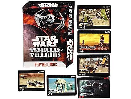 Star Wars juego de cartas vehículos de villanos: Amazon.es ...