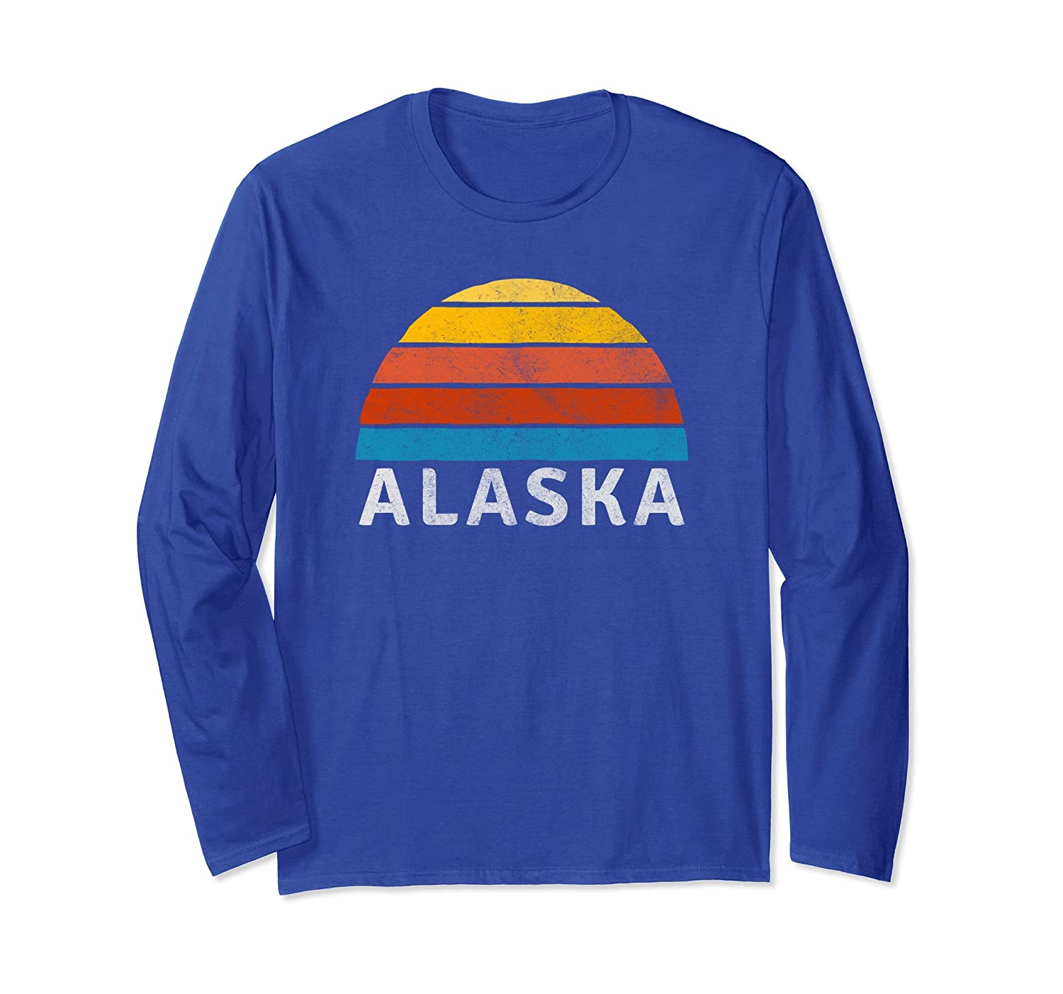 Alaska Retro Sunset Long Sleeve T-shirt-fa