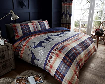 Stag Design Quilt Cover Winter Bedding All Sizes New Christmas Duvet Cover