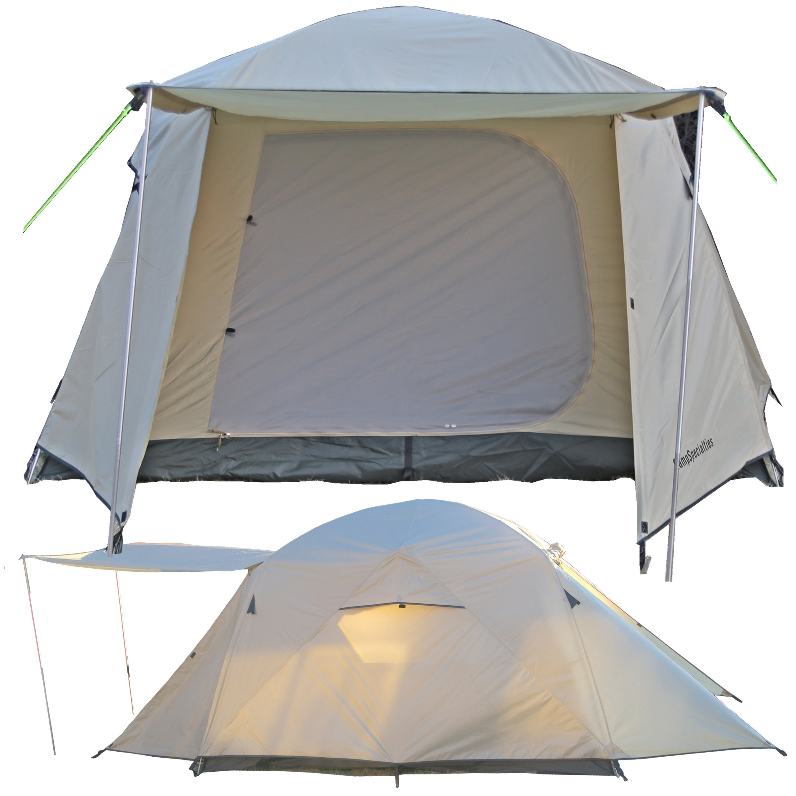 Camp Time Expedition Tent, Fast set-up, 100 square feet including vestibules, floor liner, awning poles, 7001-T6 aluminum, Designed for your cots-stools-tables,.