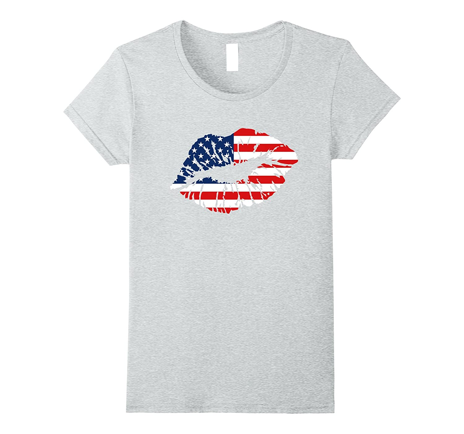 Fourth of July Lips T-Shirt Independence Day Shirt