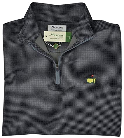 Peter Millar 2018 Masters Men S Anthracite Performance Quarter Zip Pullover Jacket