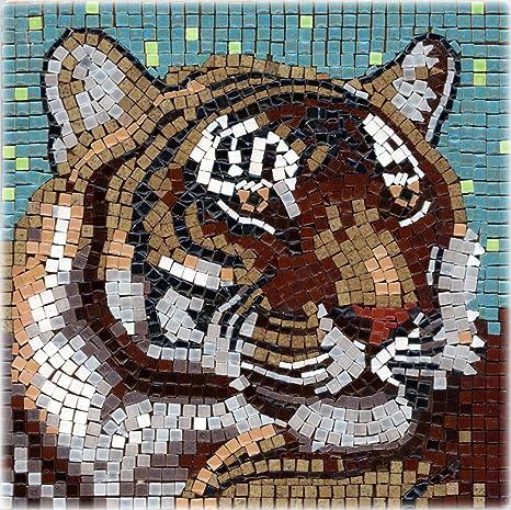 Image of: Gaudi Image Unavailable Amazoncom Amazoncom Diy Mosaic Art Kit 7 Square 20x20cm Tiger Toys Games