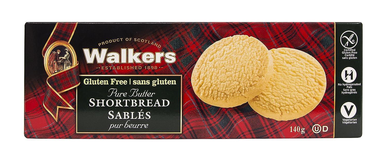 Walkers Shortbread Rounds Postre sin Gluten - 4 Paquetes de ...