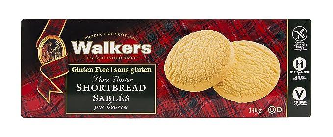 Walkers Shortbread Rounds Postre sin Gluten - 4 Paquetes de 1 x 140 gr - Total