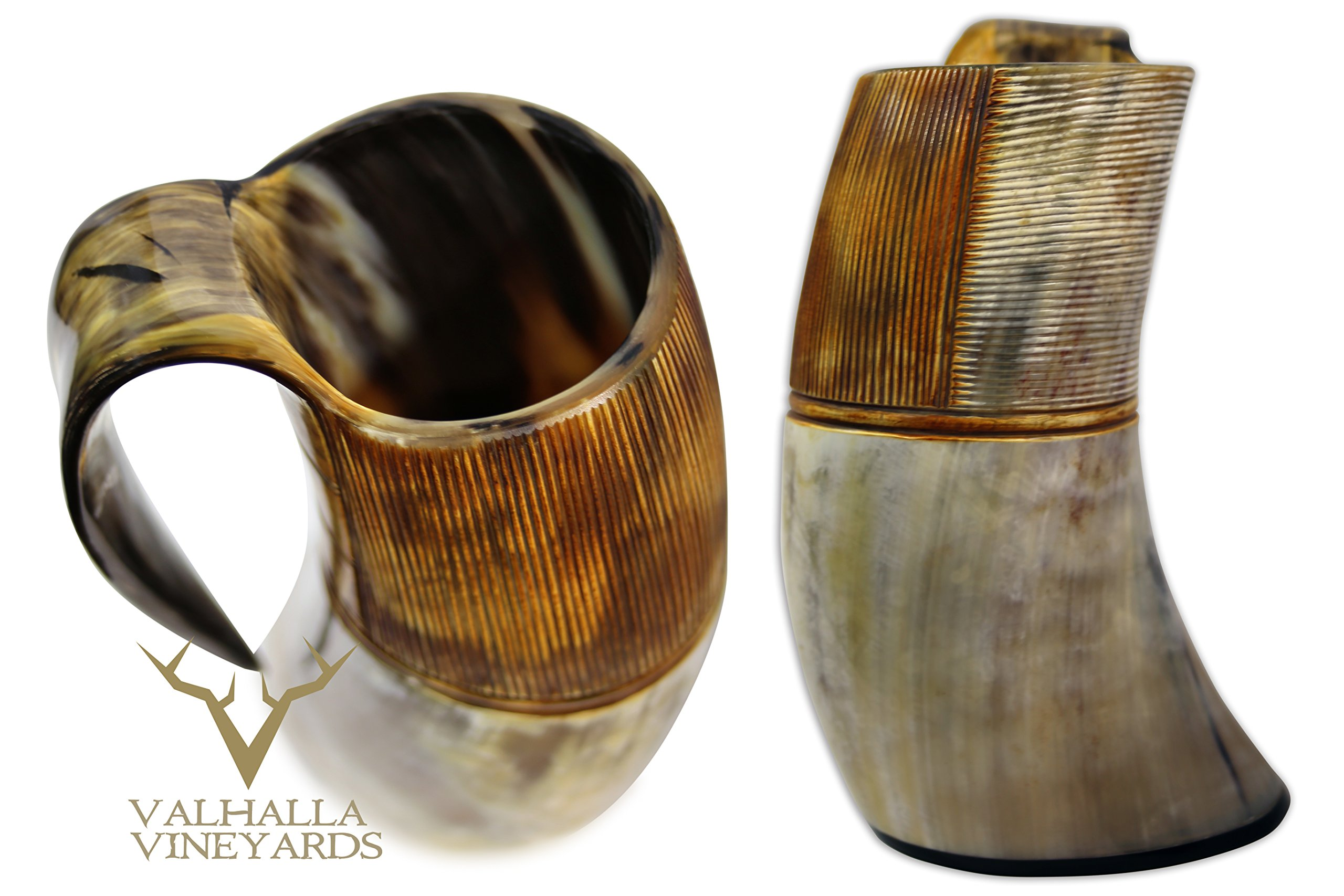 XXL King Size Authentic Natural Style Viking Buffalo Drinking Pitcher / Mug - Authentic Medieval Inspired Mug/Pitcher (42 oz) (Lighter Color) by Valhalla Drinkware (Image #10)