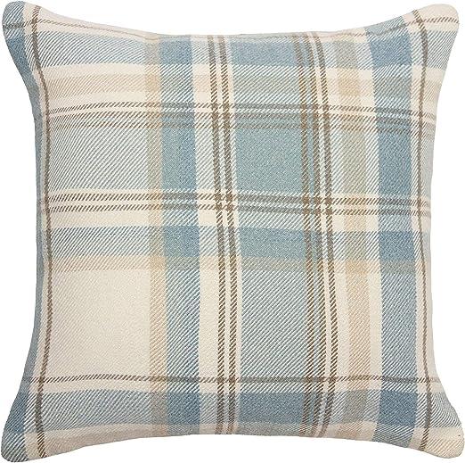 McAlister textiles Designer Angus Tartan Carreaux Duck Egg Bleu Coussin Set de 2 /& 4