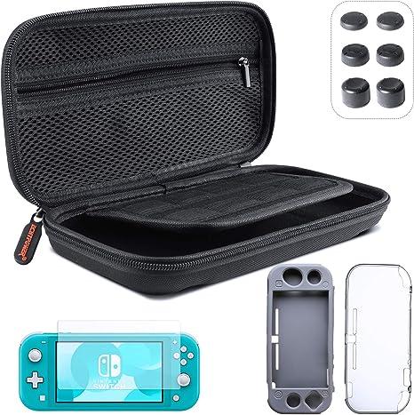 ECHTPower Accesorios para Nintendo Switch Lite, con Funda para Switch Lite, Carcasa Transparente, Carcasa de Silicona, Protector de Pantalla, Compartimento de Tarjeta de Juego, 6 Tapas de Pulgar: Amazon.es: Videojuegos