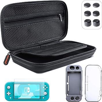 ECHTPower Accesorios para Nintendo Switch, con Funda de Transporte, Cubierta, Protector de Pantalla, Joy-con Grip y Volante, Caja de Tarjetas, Base de Cargador, Auriculares, etc: Amazon.es: Videojuegos