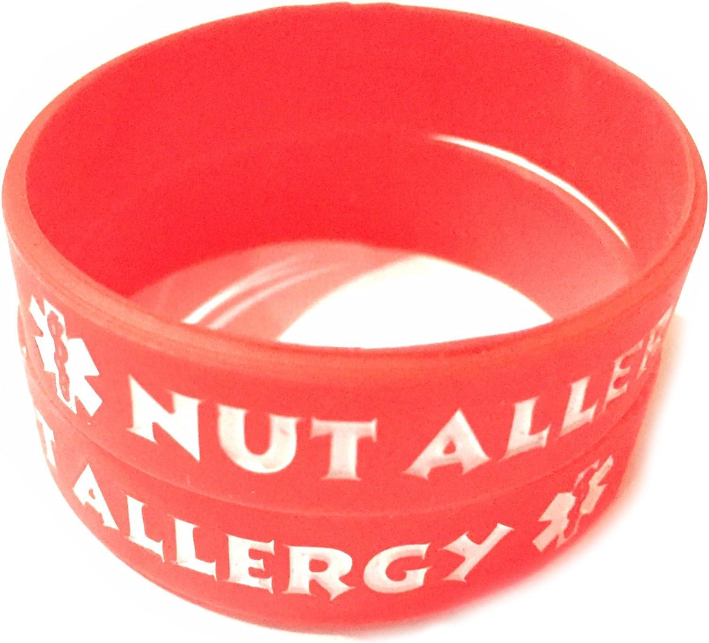 Medical Alert Epipen Inside Tag 2 pcs and Nut Allergy Bracelets for Kids 2 pcs Toddler Size
