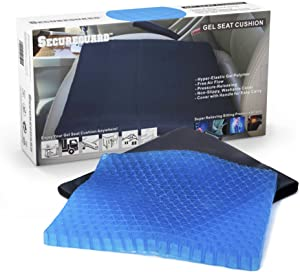 Gel Seat Cushion – Soft, Durable & Portable | Provides Excellent Support for Lower Back, Spine, and Hips | Promotes Circulation and Good Sitting Posture | Includes Carrying Case