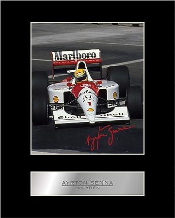 Ayrton Senna con autografo