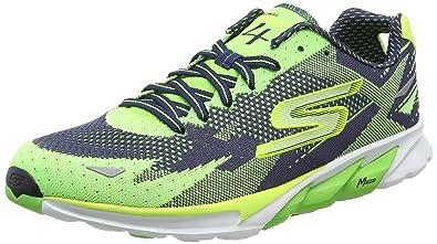 Skechers Go Run 4 - Zapatillas de Deporte para Hombre, Color Verde (Grnv)