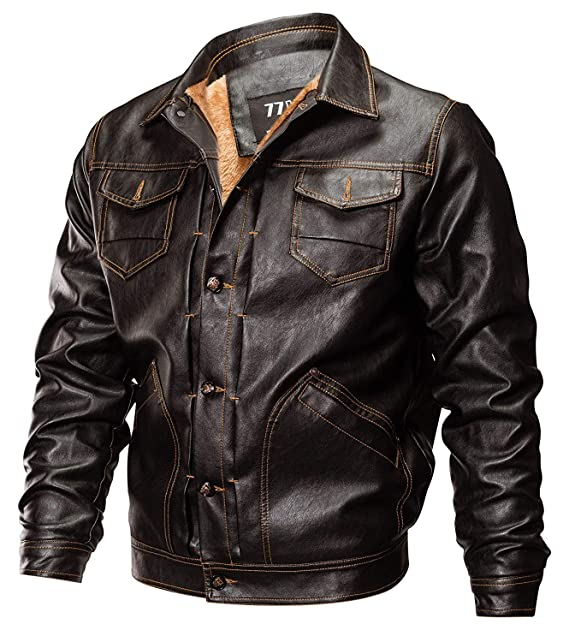 official photos 3d317 8d10f Betrothales Giacca Moto in Giacca Giubbotto Inverno Uomo Pelle Vintage  Autunno Giubbino Motociclista in Pelle Uomo Casual Invernale Giacca in  Pelle ...