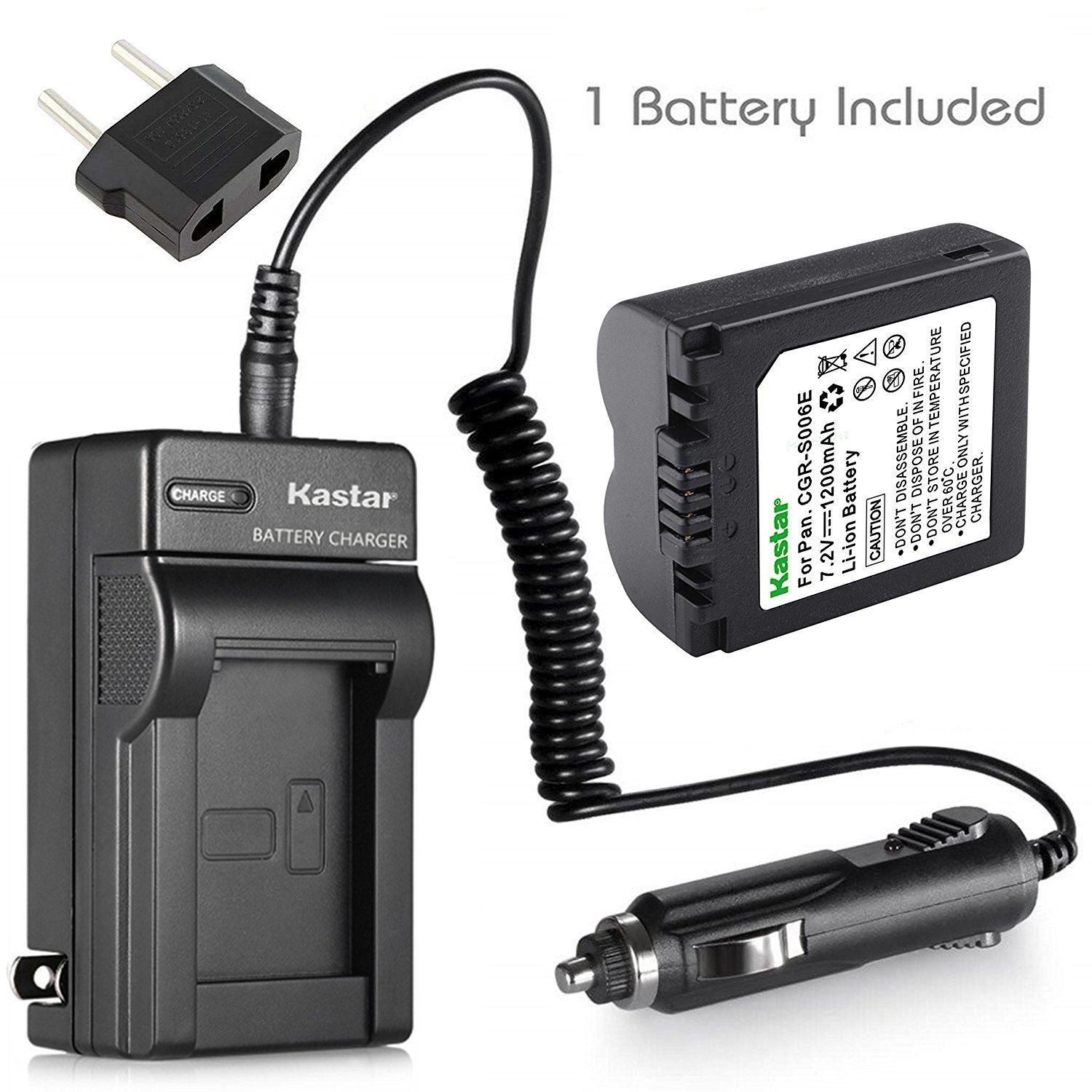 Replacement for Canon 60Da Battery and Charger with Car Plug and EU Adapter Compatible with Canon LP-E6 Digital Camera Batteries and Chargers 1800mAh 7.4V Lithium-Ion