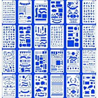 (Stencil-Classic) - 24 PCS Bullet Notebook Journal Stencil Plastic Planner Set for Journaling Suppies/Diary/Scrapbook…
