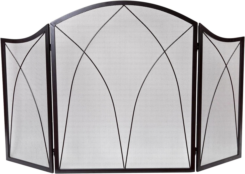 DOEWORKS Three Panel Basic Arch Fireplace Screens