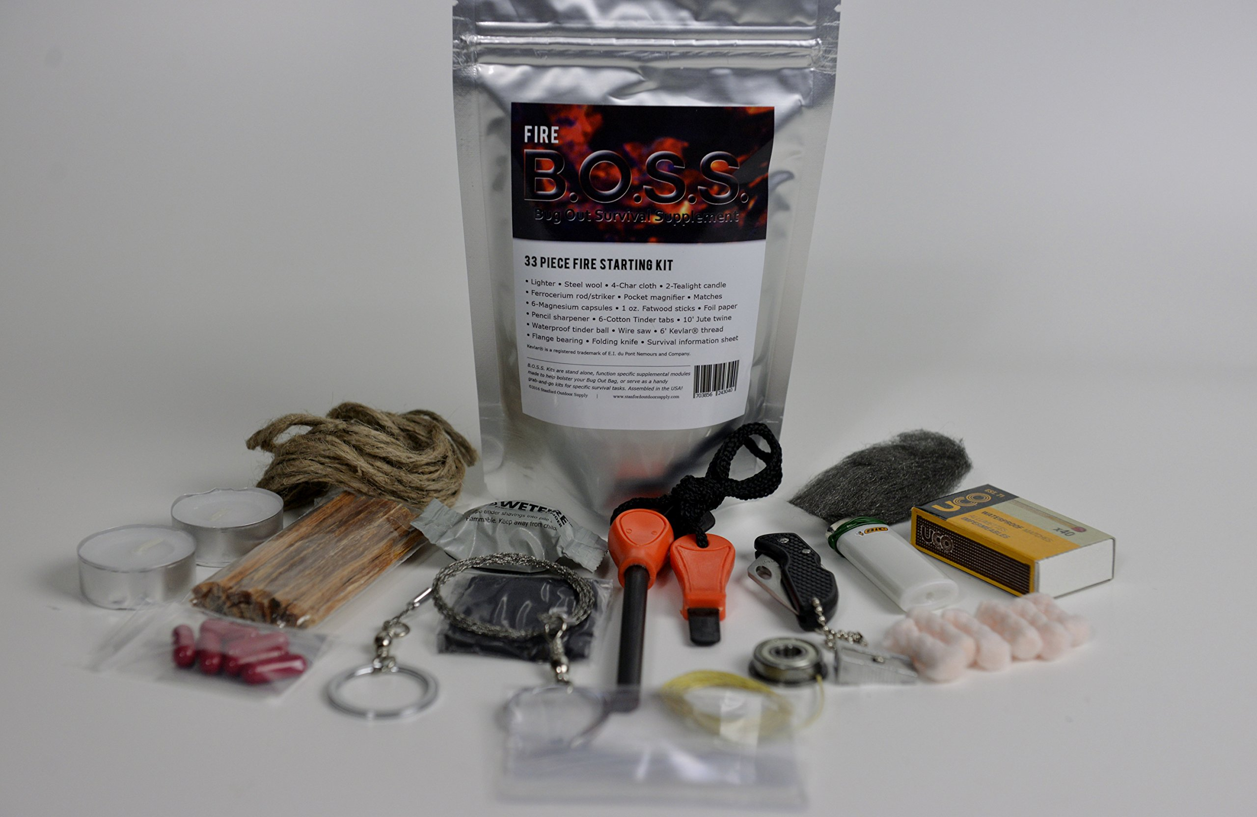 Fire B.O.S.S.- Bug Out Bag Survival Fire Starting Kit