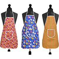 Yellow Weaves™ Waterproof Cotton Kitchen Multi Apron with Front Pocket - Set of 3