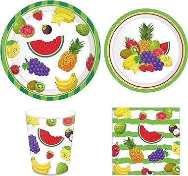 Amazon.com: CC HOME Tutti Frutti platos de fiesta, verano ...
