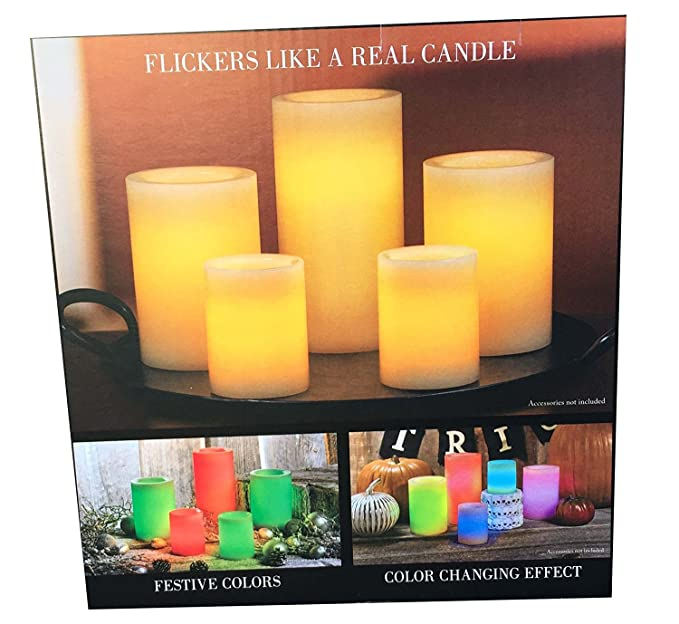 Flameless Candles Costco Gorgeous Amazon 60 LED Wax Candles With Remote Control Color Changing