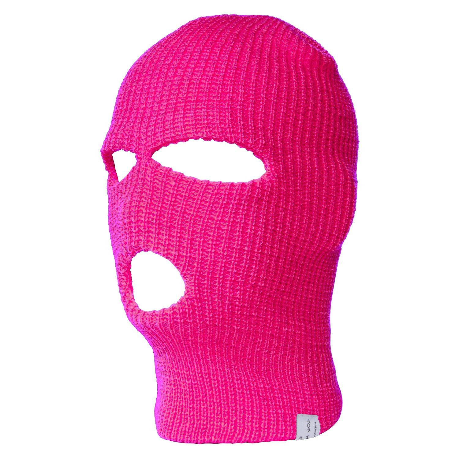 TopHeadwear 3-Hole Ski Face Mask Balaclava, Hot Pink TOP HEADWEAR
