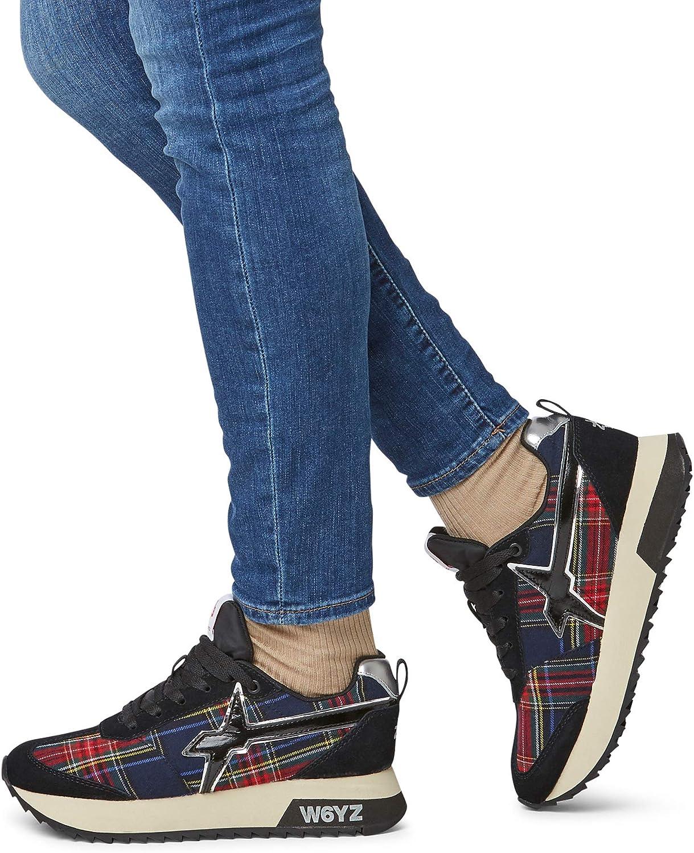 w6yz KIS-W.-Sneakers in Pelle e Tessuto Nero W8N7b7