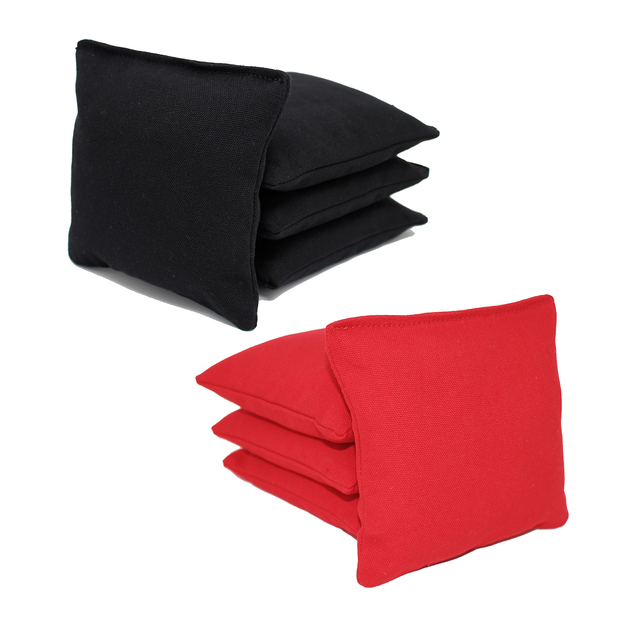 Free Donkey Sports ACA Regulation Cornhole Bags (Set of 8) (Black and Red) 25+ Colors to Choose from.