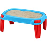 American Plastic Toys Kids Outdoor Sand Table, Blue/Red