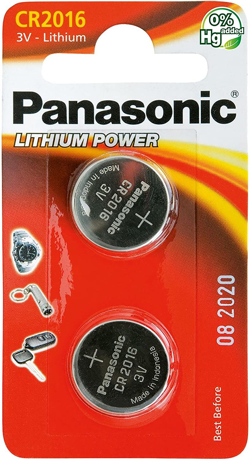 Panasonic CR2025 Pila botón de litio no-recargable, 3V, 165 mAh ...