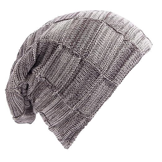 Senker Mens Slouchy Beanie Knit Winter Soft Warm Oversized Cc Hats