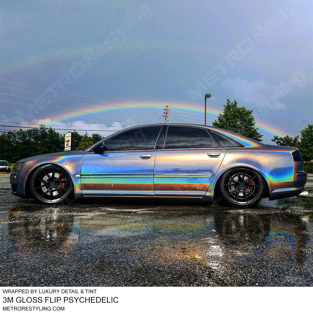 3M 1080 GP281 Gloss FLIP Psychedelic 3in x 5in (Sample Size) Car Wrap Vinyl Film by 3M (Image #2)