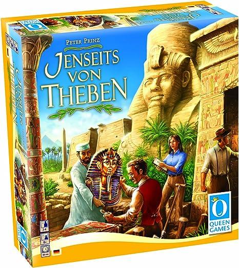Queen Games 6046 - Juego de Mesa Jenseits Von Theben (Instrucciones en alemán): Amazon.es: Juguetes y juegos