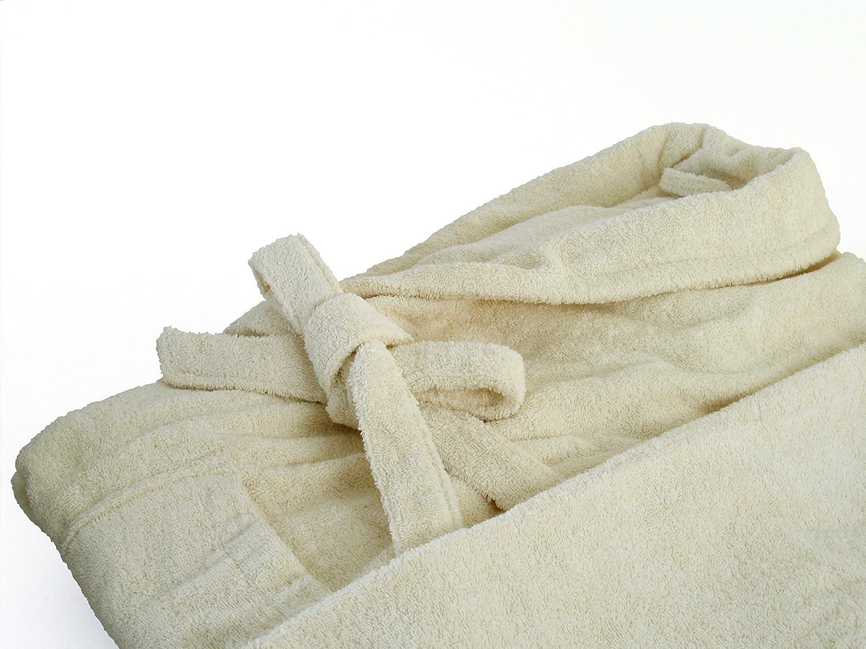 Gr Dyckhoff Accappatoio in Spugna con Collo Sciallato in 6/Colori e 5/Dimensioni per Uomo e Donna S Cotone Bianco