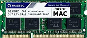 Timetec Hynix IC 8GB Compatible for Apple DDR3 1067MHz / 1066MHz PC3-8500 for MacBook (Mid 2010 13-inch), MacBook Pro (Mid 2010 13-inch), iMac (Late 2009 27-inch), Mac Mini (Mid 2010) MAC RAM Upgrade