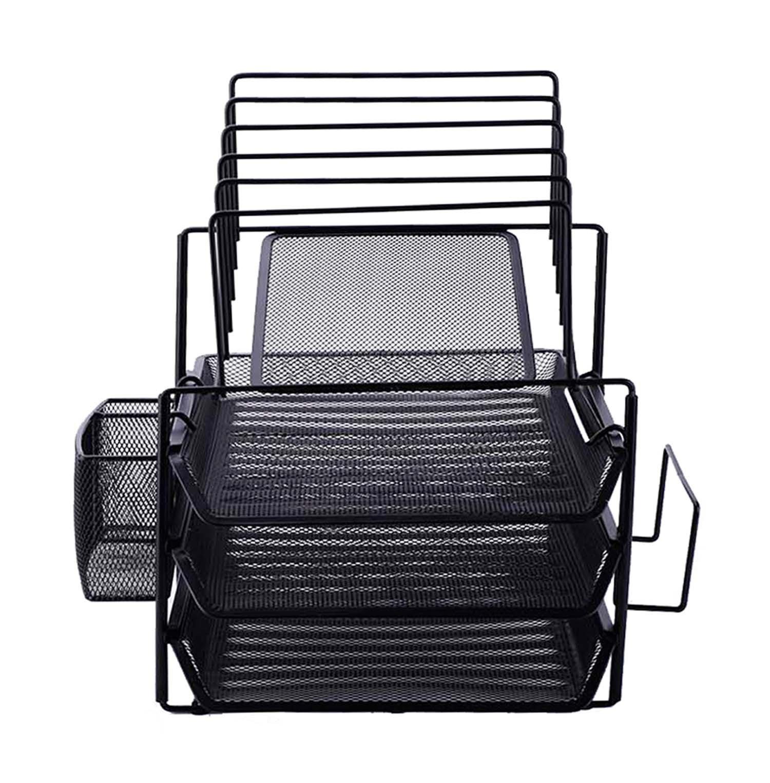 Comfortable Black Wire Mesh Desk Organizer Contemporary