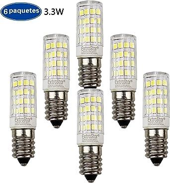 ExtraStar Bombillas LED, E14 G9 3.3W Equivale 26W Halógena, Blanco ...