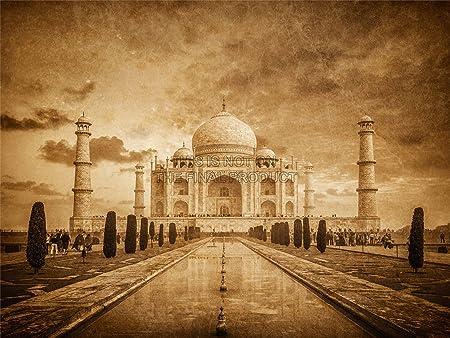 PHOTOGRAPHY LANDMARK COMPOSITION TAJ MAHAL AGRA INDIA ART PRINT POSTER MP3481A