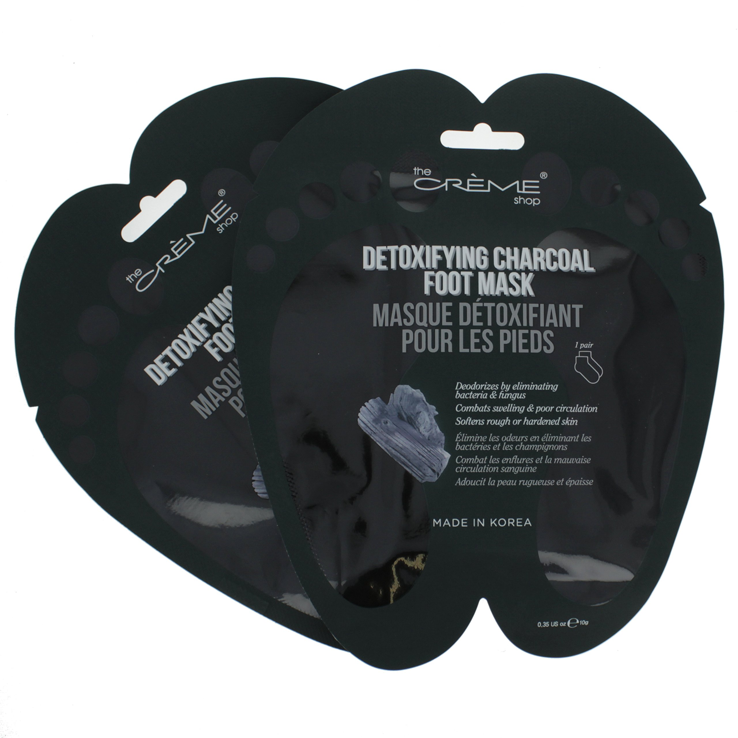 The Crème Shop - Detoxifying Charcoal Foot Mask - 2 pair set