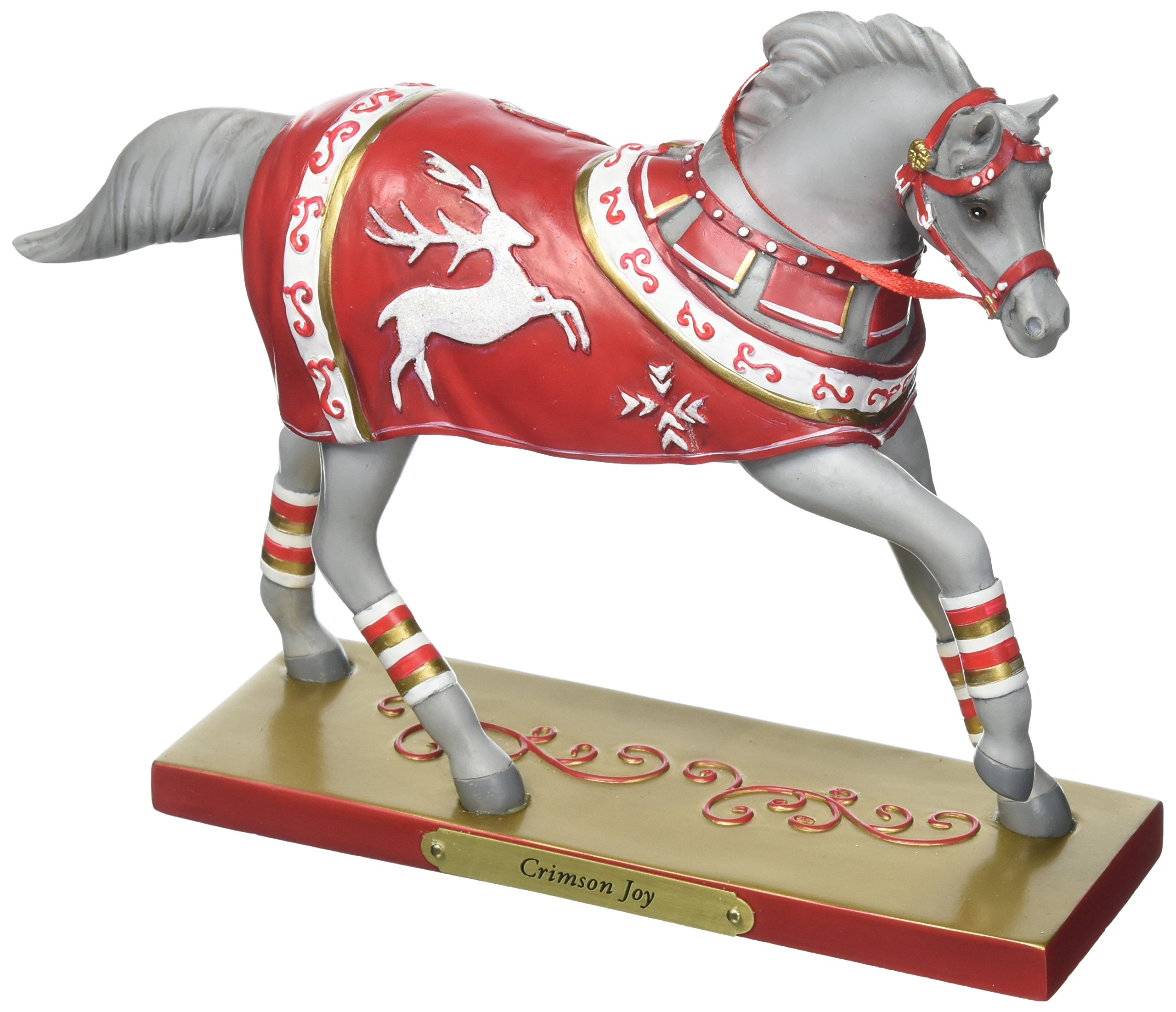 "Enesco Trail of Painted Ponies ""Crimson Joy"" Stone Resin Figurine, 6.5"""